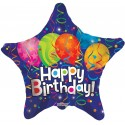 Balon mini figurina Happy Birthday festive 23 cm