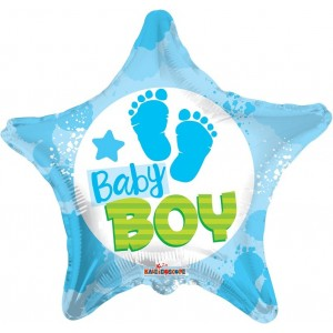 Balon folie 45 cm baby boy