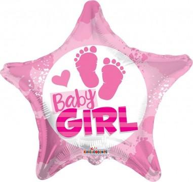 Balon folie 45 cm baby girl