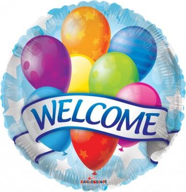 Balon folie 45 cm welcome