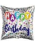 Balon folie 45 cm Happy Birthday 2