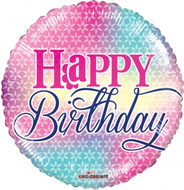 Balon folie 45 cm Happy Birthday 9