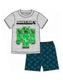 Pijama copii Minecraft, albastru inchis