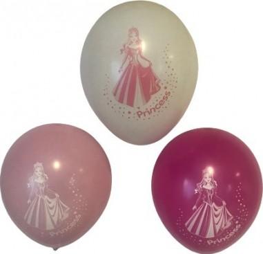 Set 6 baloane latex 25 cm imprimate printesa