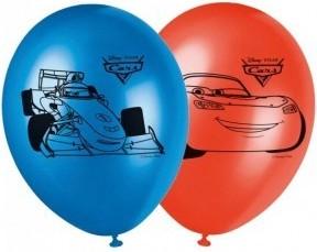Set 8 baloane latex 28 cm imprimate Cars