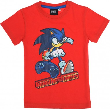 Tricou copii Sonic rosu