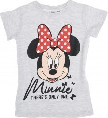Tricou fetite Minnie Mouse, gri, 100% bumbac