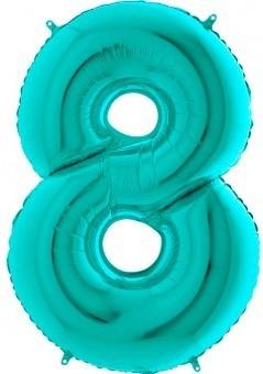 BALON FOLIE cifra 0, Tiffany, 66 CM