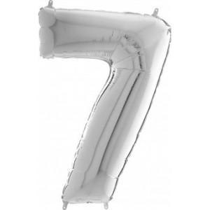 BALON FOLIE cifra 0, argintiu, 66 cm, ambalat