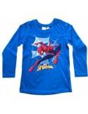 Tricou Spiderman,manica lunga,albastru,bumbac