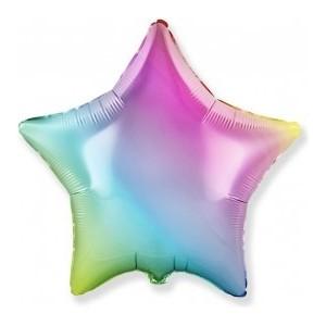 Balon folie 45 cm stea rainbow