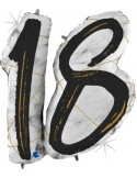 Balon folie 18 negru 97 cm