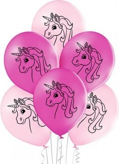Set 6 baloane latex 30 cm unicorn