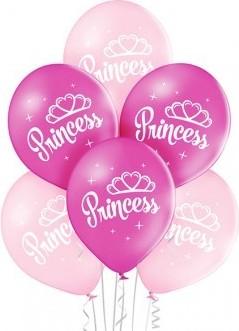 Set 6 baloane latex 30 cm princess