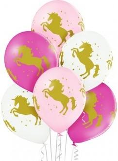 Set 6 baloane latex 30 cm unicorn 1