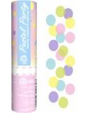 Tun confetti 15 cm hartie multicolor pastel