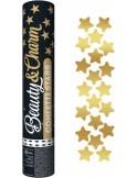 Tun confetti 30 cm stea gold metalizat