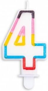 Lumanare multicolora cifra 0