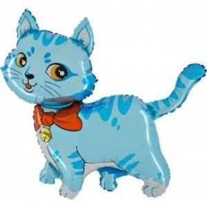Baloane Figurine Pisica 57cmx87cm albastra