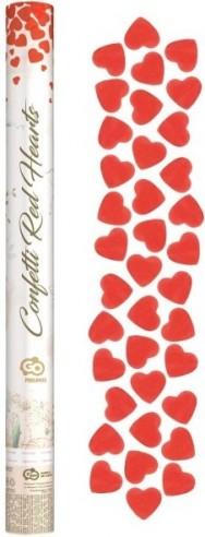 Tun confetti hartie 60 cm inima rosie