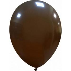Set 5 baloane latex 35 cm maro