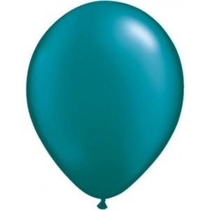 Set 5 baloane latex 35 cm turcoaz