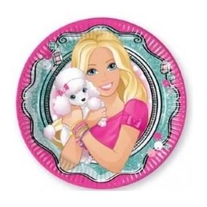 8 Farfurii Barbie Elegant 23 cm
