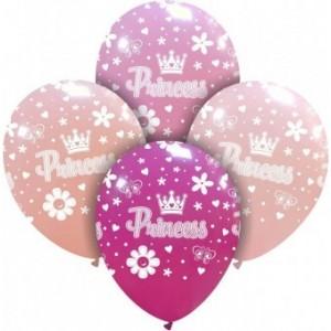 Set 8 baloane latex 30 cm Princess