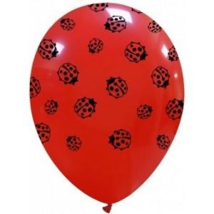 Set 8 baloane latex 30 cm imprimat Buburuza