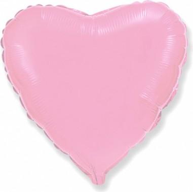 Balon folie 23 cm inima baby pink