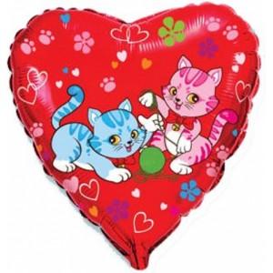 Balon folie 45 cm sweet cats
