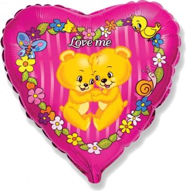 Balon folie 45 cm Love me