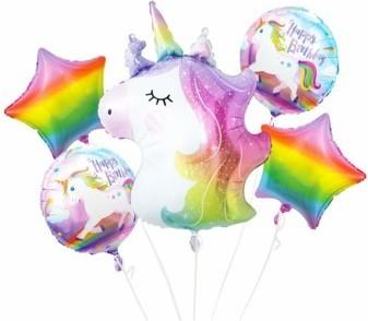Set 5 baloane folie Baby Boy