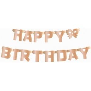 Banner Happy Birthday,rose gold 11x160 cm