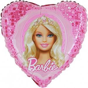 Foil balloons 45 cm Barbie Princess