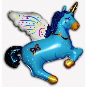 Balloons Figurine magical Unicorn Blue 77cmx90cm