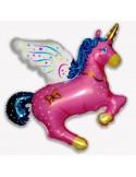 Baloane Figurine magic Unicorn Roz 77cmx90cm