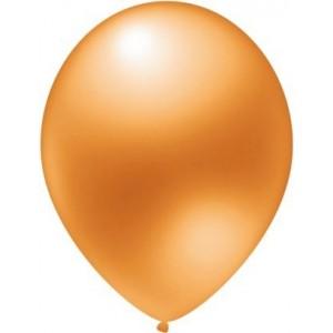 Balloons latex metallic orange 30 cm