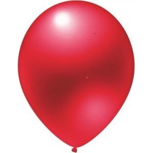 Latex balloons metallic red 30 cm