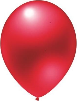 Baloane latex metalizate rosu 30 cm