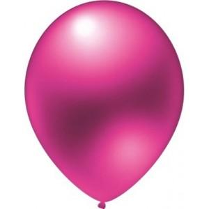 Baloane latex metalizate roz 30 cm