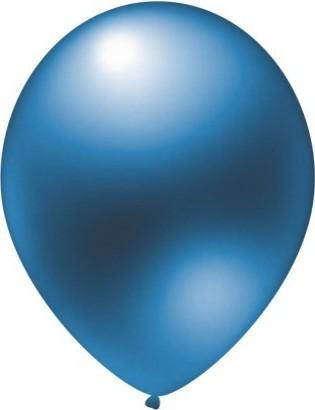 Latex balloons metallic blue 30 cm