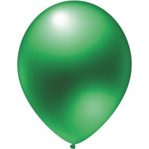 Latex balloons metallic mint green 30 cm