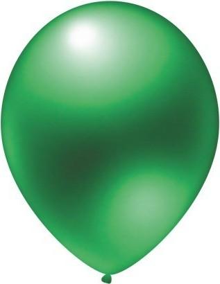 Baloane latex metalizate verde 30 cm
