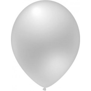 Latex balloons metallic white 30 cm