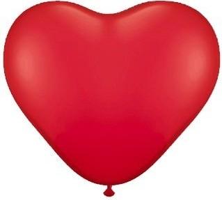 Baloane latex inima rosii 30 cm