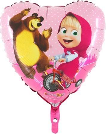 Baloane folie 45 cm Masha inima
