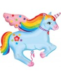Baloane figurina Rainbow Unicorn 71cmx71cm