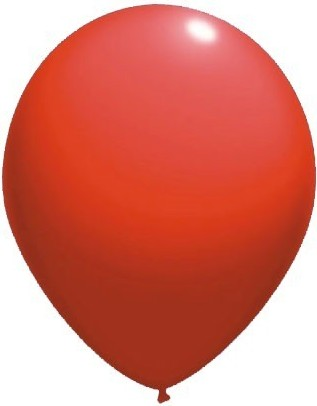 baloane latex standard 30 cm rosu