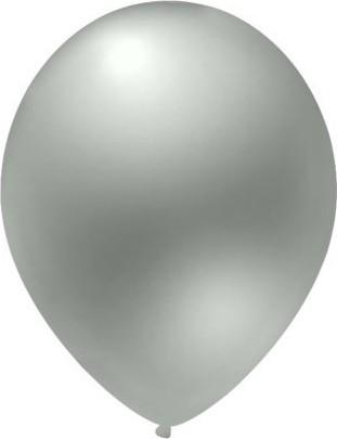 baloane latex metalizate argintiu 30cm